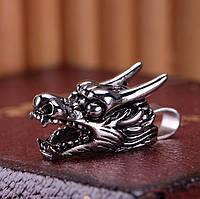 """Кулон стальной """"Голова дракона"""" (малая), сталь 316L"""