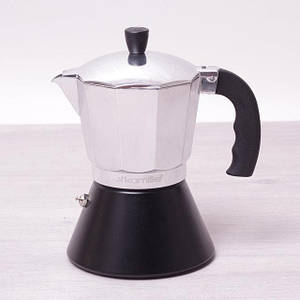 Кофеварка гейзерная из алюминия с широким индукционным дном на 300 мл Kamille a2510