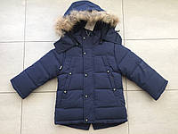 Куртка парка зимняя на мальчика 2-5 лет синий, фото 1