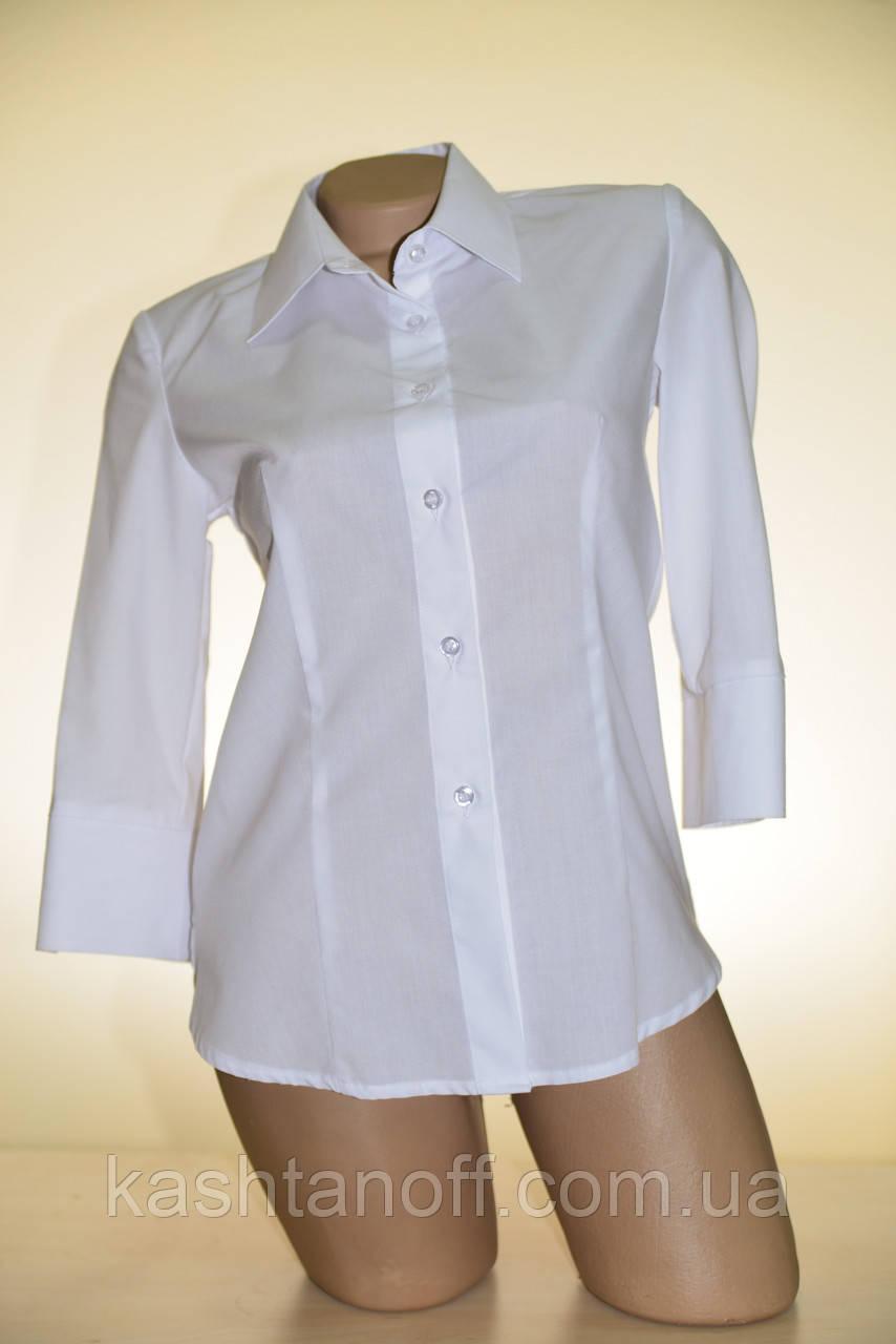 Біла блуза 3/4 рукав