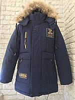 Куртка зимняя на мальчика 7-9 лет с наушниками, фото 1
