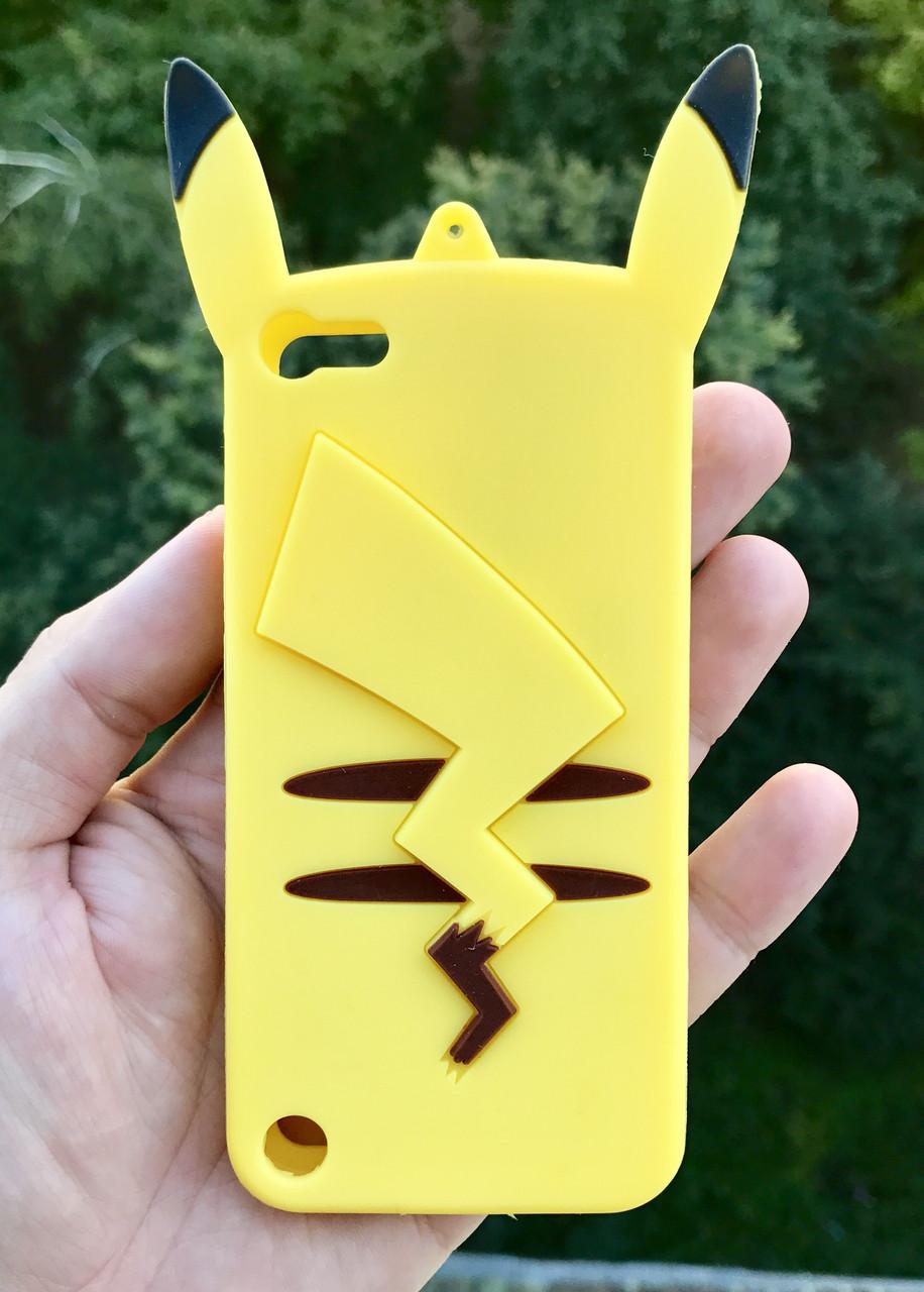 """Чехол, силиконовый кейс """"Свинка"""" Piggy Pink 3D для Apple iPodtouch 5\6\7 + защитная пленка на экран в подарок"""