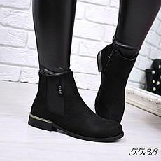 """Ботинки, ботильоны черные """"Everyday"""" эко замша, повседневная, демисезонная, осенняя, женская обувь, фото 2"""