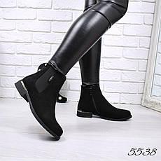 """Ботинки, ботильоны черные """"Everyday"""" эко замша, повседневная, демисезонная, осенняя, женская обувь, фото 3"""
