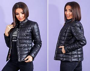 Женская короткая куртка с воротником стойкой весна- осень 42,44,46,48