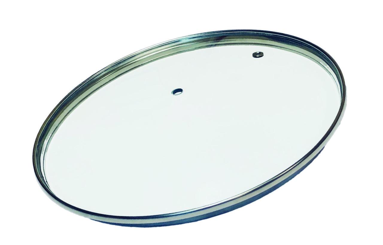 Стеклянная крышка для посуды без ручки d=20 см Con Brio СВ-9020