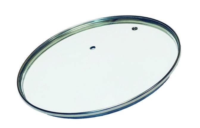 Стеклянная крышка для посуды без ручки d=20 см Con Brio СВ-9020, фото 2