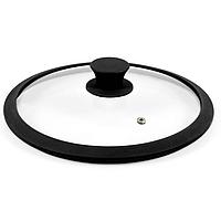 Стеклянная крышка для посуды с силиконовым ободком d=20 см Con Brio СВ-9120