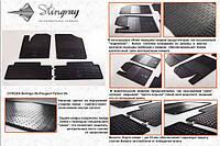 Резиновые коврики (Stingray) 4 шт, Premium - без запаха резины - Peugeot Partner 1996-2008 гг.