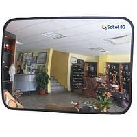 """Обзорное зеркало """"SATEL"""" прямоугольное для помещений 600mm*400mm"""