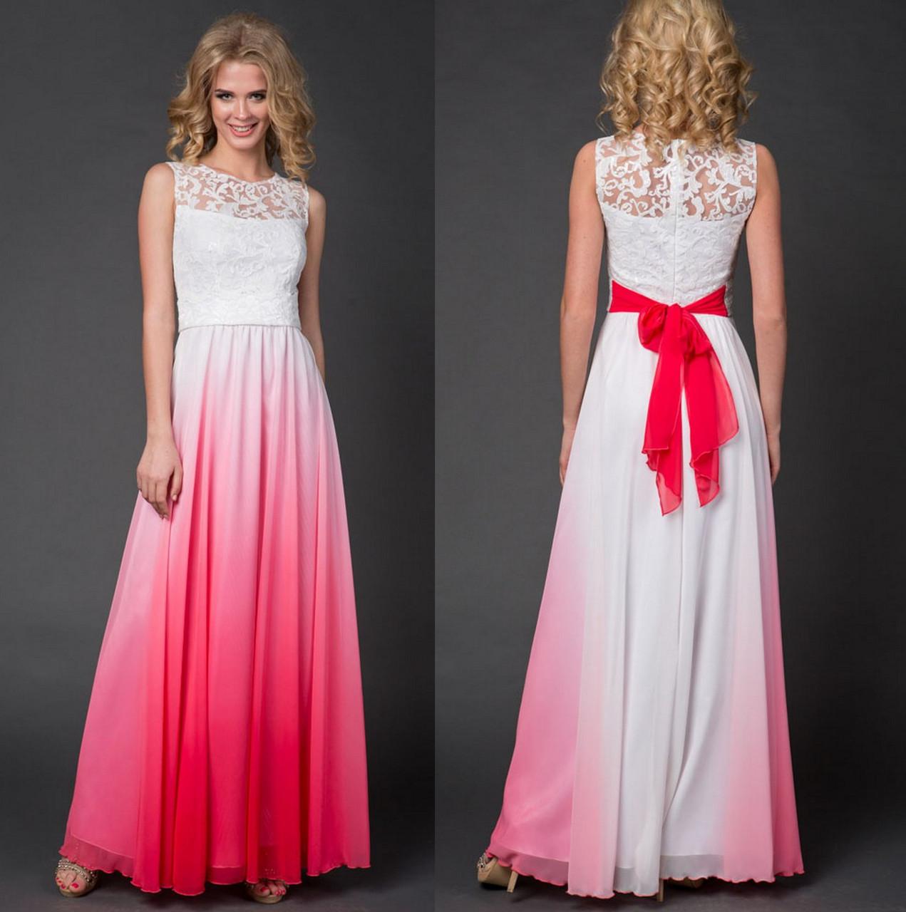 12349050853 Роскошное Вечернее Платье. Белое с Красным