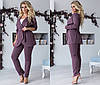 Комплект ТРОЙКА больших размеров 48+ майка, брюки и пиджак на запах  / 4 цвета  арт 6687-93, фото 3