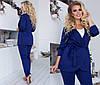 Комплект ТРОЙКА больших размеров 48+ майка, брюки и пиджак на запах  / 4 цвета  арт 6687-93, фото 4