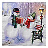 Салфетка Снеговики в парке