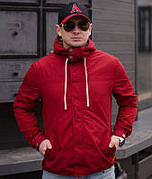 Мужская ветровка с капюшоном. Красная, 4 цвета. Р-ры: 44,46,48,50,52.