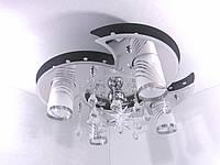 """Люстра потолочная """"Космос"""" с цветной LED подсветкой и автоматическим отключением YR-5235/4+1, фото 1"""