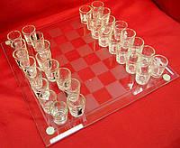 """Шахматы с рюмками """"маленькие"""""""