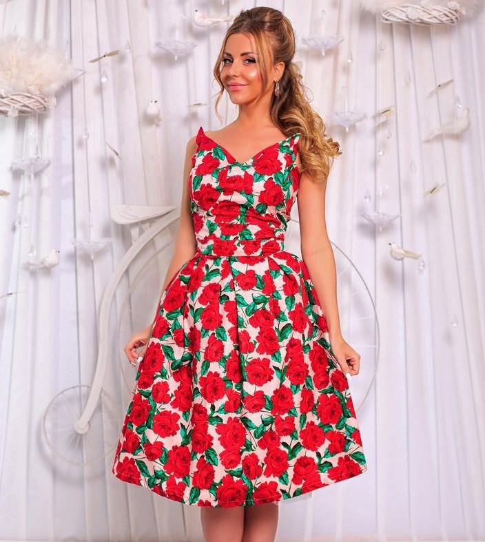 afd9254ada3 Летнее Платье в Цветочек
