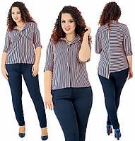 Костюм: рубашка + брюки. Персик+синий, 4 цвета.