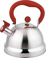 Чайник со свистком на 2,7 л Con Brio CB-411-RD