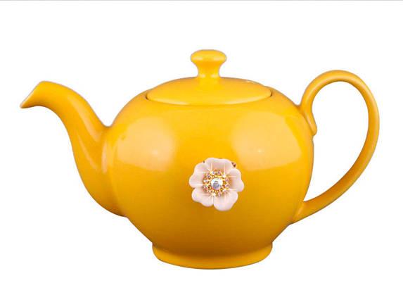 Заварочный чайник оранжевый на 600мл Е-декор 470-156, фото 2