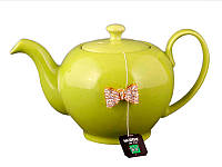 Заварочный чайник оливковый с бантиком на 600мл Е-декор 470-127