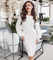 2296bdf079f Оригинальное Женское Белое Платье с Длинным Рукавом с Принтом По ...