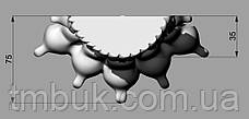 Резная ножка Львиная лапа в стиле Ампир. Дерево ясень. От производителя. 110 мм, фото 3