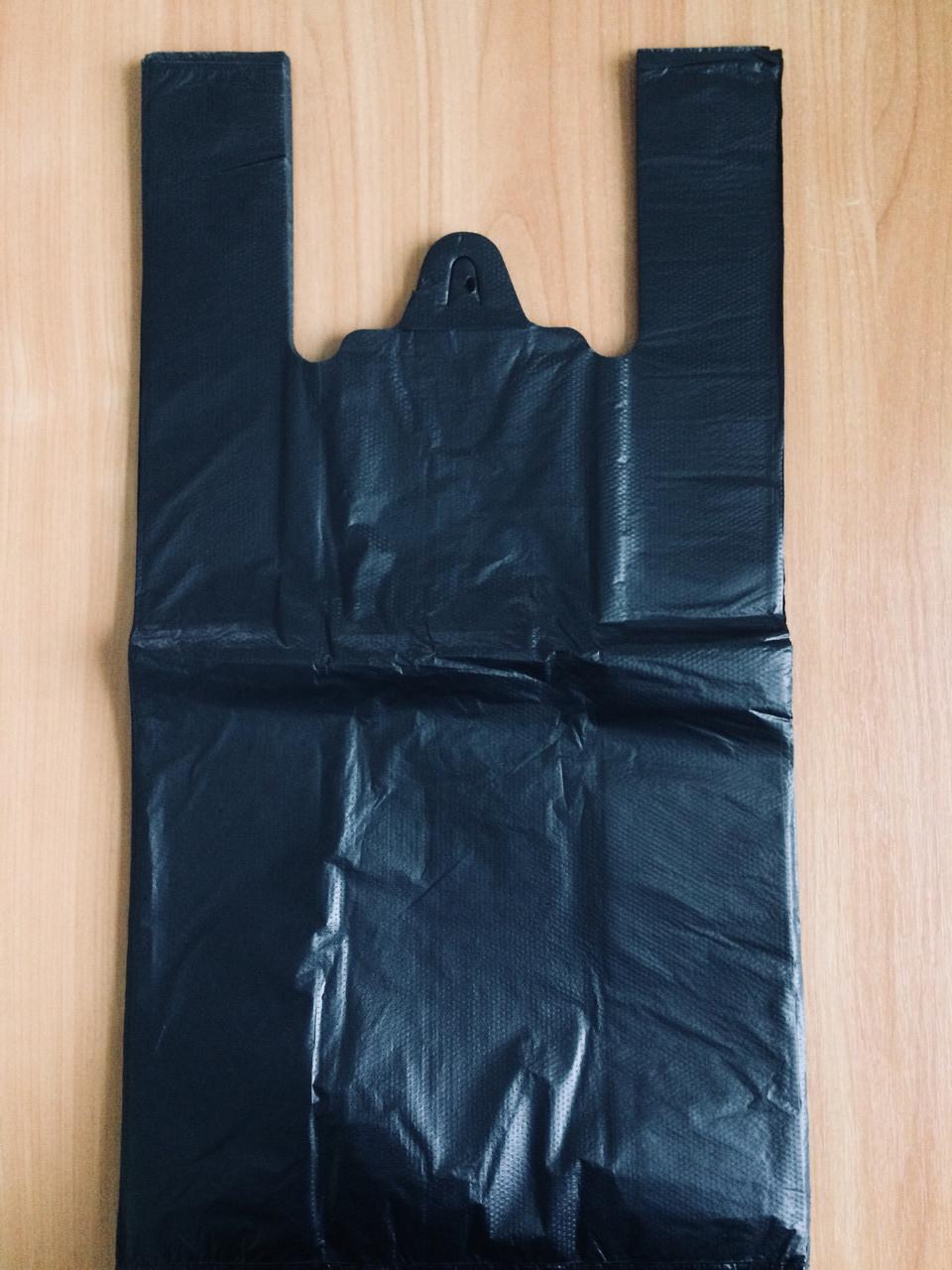 Полиэтиленовый пакет Майка №4 290х550 мм, черный (О)
