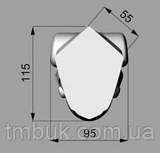 Ножка для стола, консоли кабриоль деревянная резная. Гнутая с виньеткой и завитками. 750 мм, фото 3
