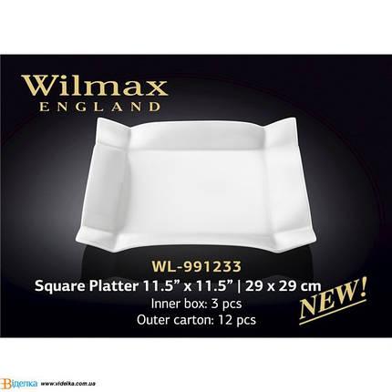 Блюдо квадратное 29*29 см Wilmax WL-991233, фото 2