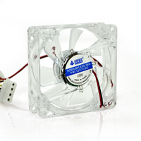 Кулер корпусной Merlion 8025 прозрачный DC sleeve fan 4pin - 80*80*25мм, 1500об/мин