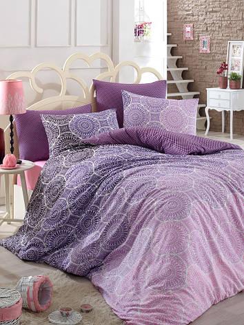 Комплект постельного белья Majoli Colin v1 двуспальный евро, фото 2