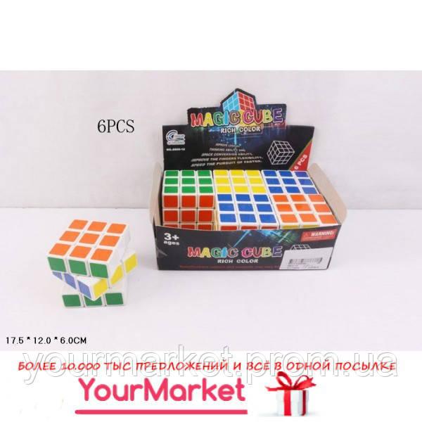 Кубик Рубика 8800-12  6 см, 6шт в дисплее 17,5*12*6 см, цена за диспле