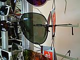 Очки Ray-Ban Aviator Polaroid черные, чорная оправа, фото 2