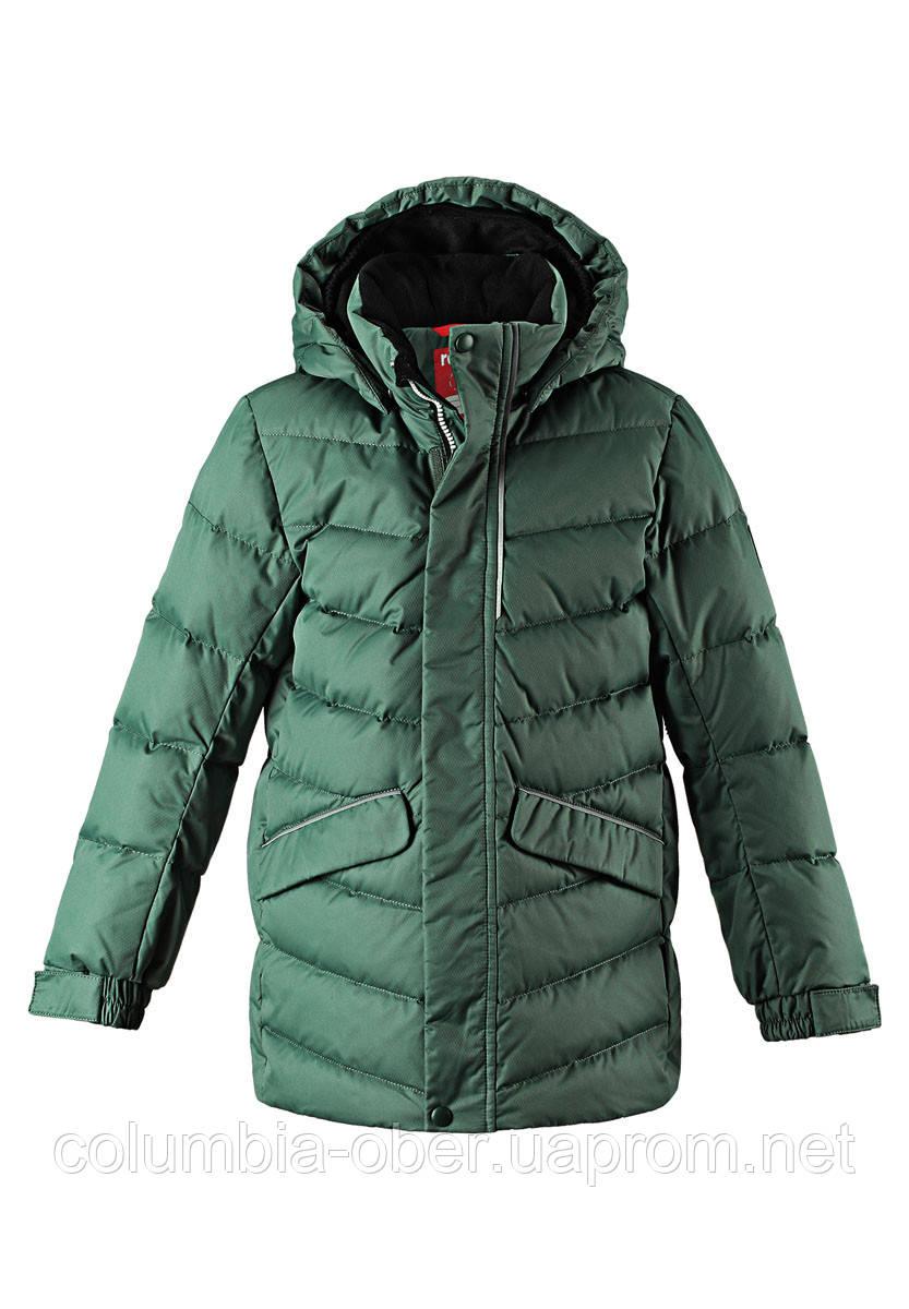 Зимняя куртка пуховик для мальчика Reima 531371-8630. Размеры 104-164.