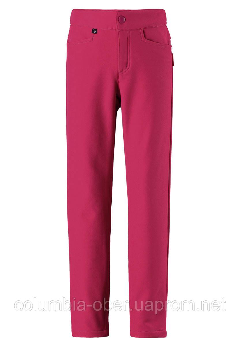 Демисезонные брюки для девочки Softshell Reima IDEA 532108-3600. Размер 104-146.