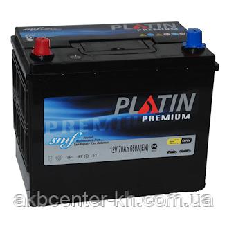 Автомобильный аккумулятор PLATIN Premium JP 6CT- 70Aз 660A L SMF