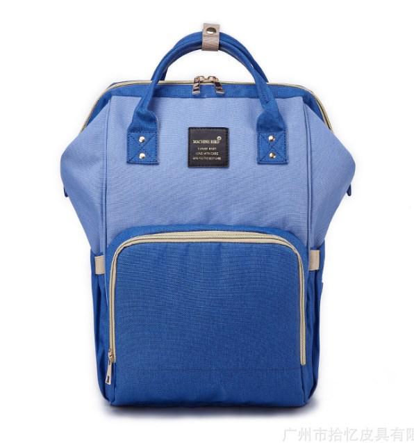 Рюкзак-органайзер для мам і дитячих речей Machine Birds синьо-блакитний