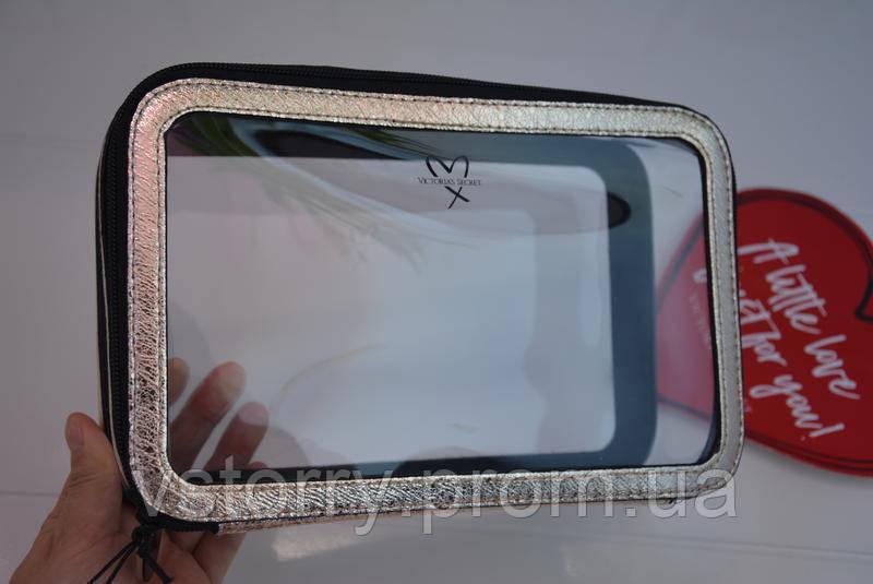 84724c60c465 Victoria s Secret Bag Big Gold-Pure виктория сикрет прозрачная косметичка  оригинал
