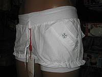 Шорты женские из плащевки норма с пуговицами на карманах и  рюшкой