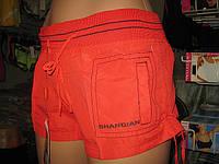 Шорты женские из плащевки норма с отстроченным карманом