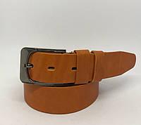 Ремень мужской кожаный MrMrs 15528 рыжий реплика