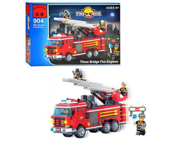 "Конструктор ""Пожежна команда"" Three Bridge Fire Engines з серії ""пожежні рятувальники, пожежна машина, фигурк"