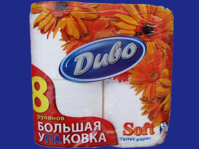 Туалетная бумага «Диво» Soft 8 шт