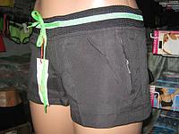 Шорты женские из плащевки норма карманы на молниях