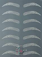 Тренировочный коврик чёрный (дугообразные брови)