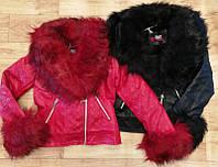 Куртка кожзам для девочек оптом, S&D, 8-18 лет,  № CK-01, фото 1