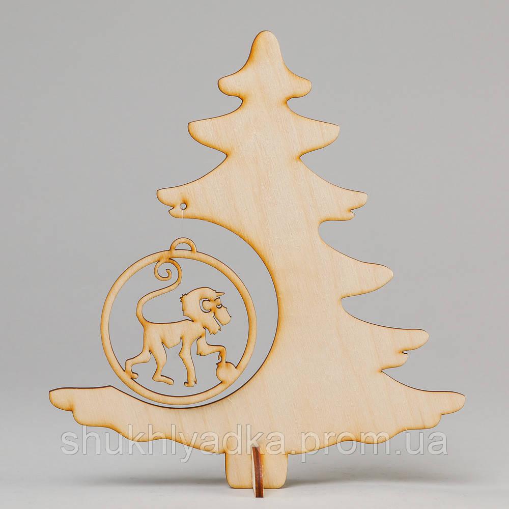 Елочка на подставке_деревянная заготовка_Новый год