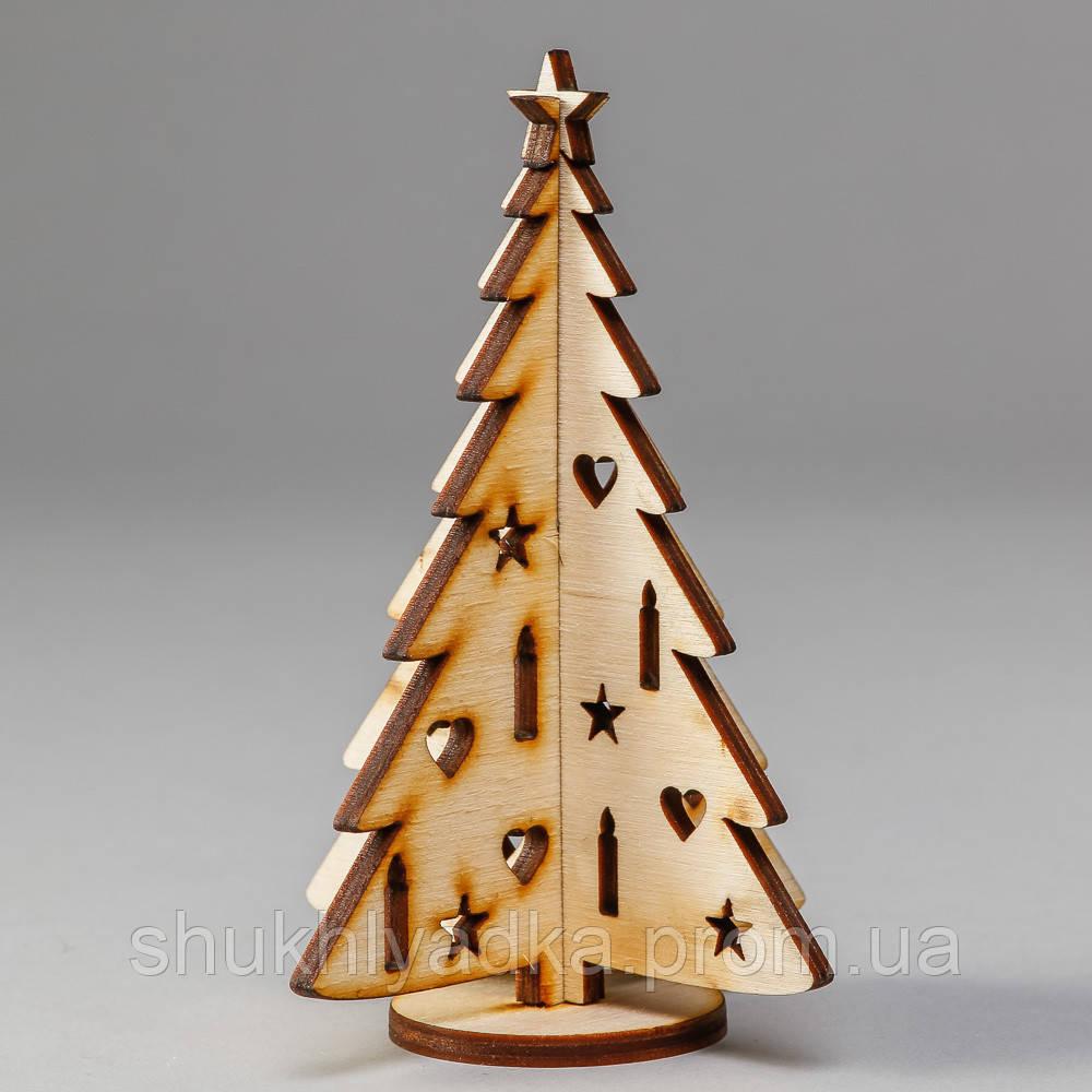 Елочка с игрушками, сборная_деревянная заготовка_Новый год